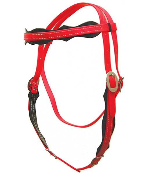 red scallop headstall
