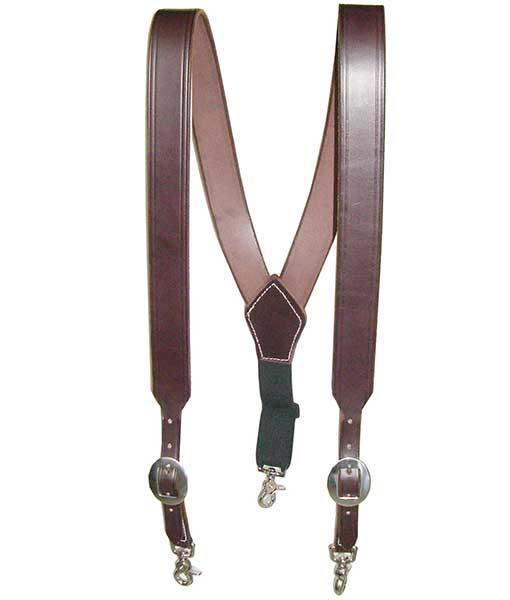 mens brown suspenders