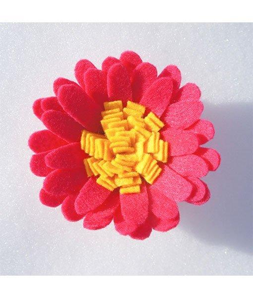 dark pink felt flower