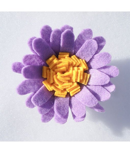 light purple felt flower