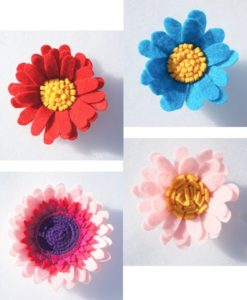 mixed single felt flowers